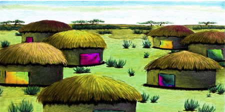 Illustration of a Village